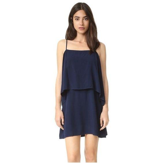 Splendid Voile Dress ($140) ❤ liked on Polyvore featuring dresses, navy, navy mini dress, splendid dress, navy blue short dress, voile dress and navy blue cocktail dress