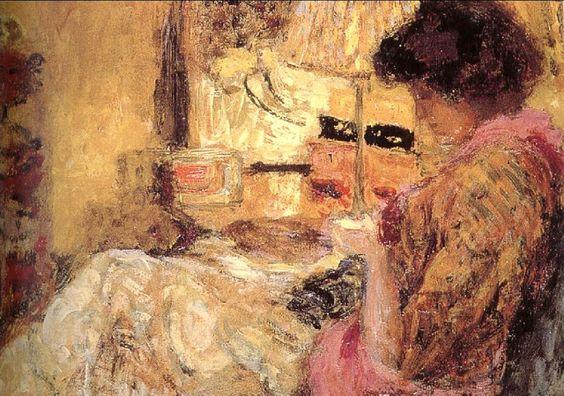 Jean Édouard Vuillard (French artist, 1868-1940) Sewing