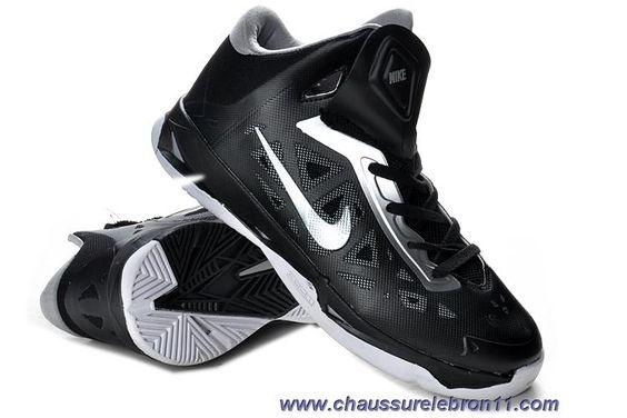Chaud Hommes 535272 Nike Zoom Hyperchaos Noir Blanc MetTousic Argent