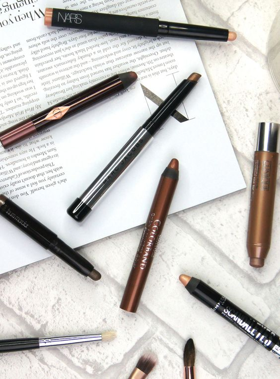 7 Best Cream Eyeshadow Sticks Featuring Nars, Charlotte Tilbury, Marc Jacobs, Laura Mercier, Clinique, Rimmel & Bourjois.