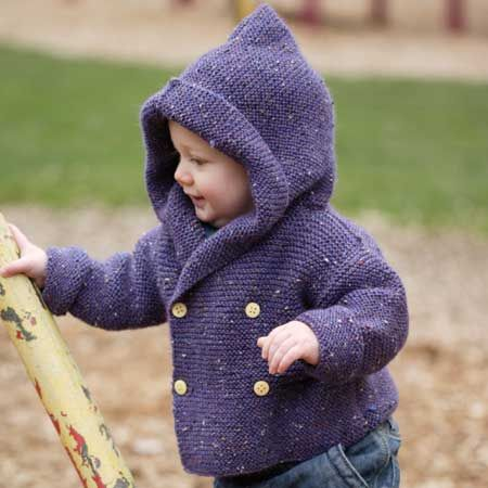 fabulous &quotDuffel Coat&quot from Debbie Bliss in book &quotEssential Baby