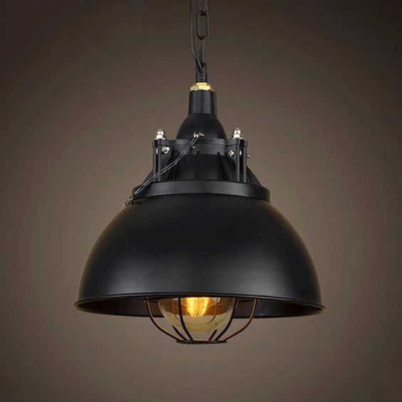 lampadario Loft American Country Vintage lampade in stile industriale ...