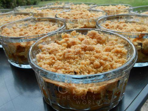 Crumble pommes & baies de goji