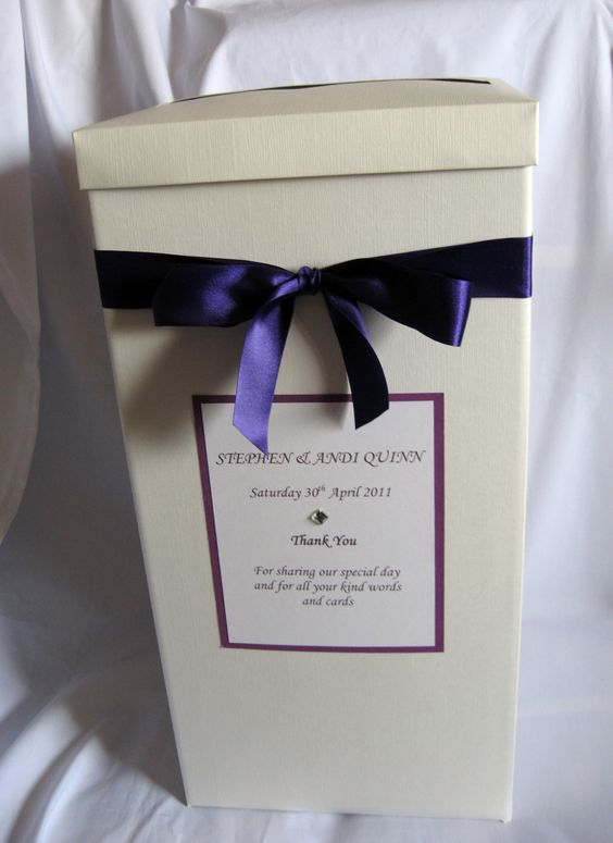 Cadbury Purple Wedding Card Post Box Wishing Well Available in – Post Boxes for Wedding Cards