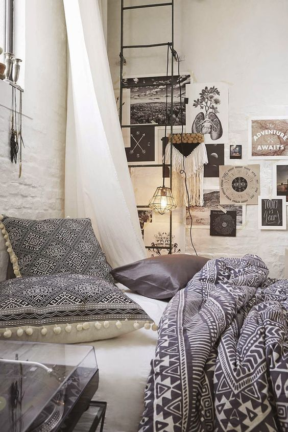 Bohemian bedroom decor inspiration | #interior #design #boho