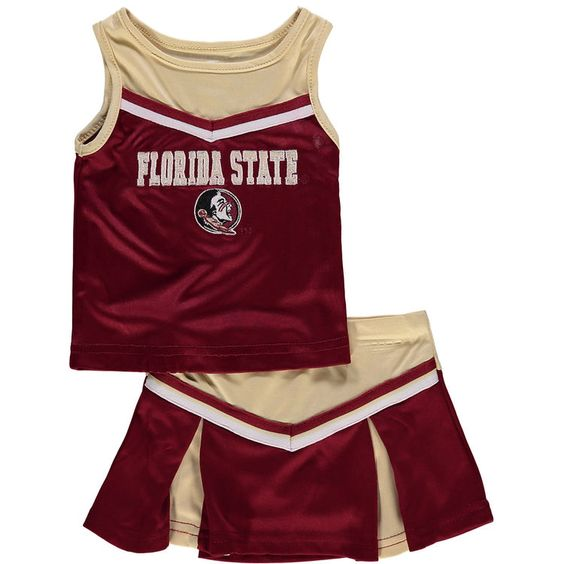 Florida State Seminoles Colosseum Girls Infant Aerial Cheer Set - Garnet