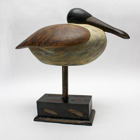 Shore Bird Tihu Bird Figurine with Base