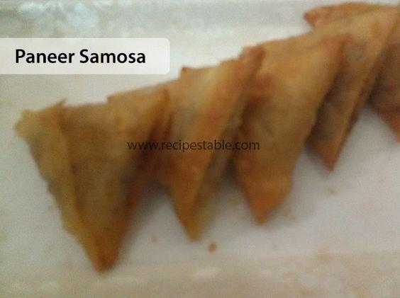 Paneer Samosa Recipe
