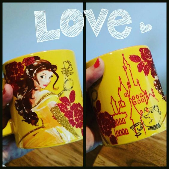 A fun surprise our girl got me today. So made my day. 😍 #IamBelle #beautyandthebeast #belle #coffeemug #lovemygirls #rjprincess: