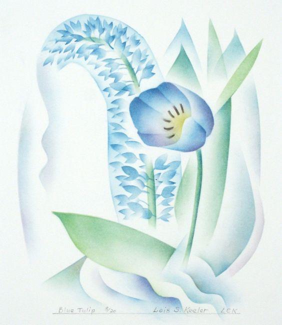 Lois S. Keeler : Blue Tulip at Davidson Galleries
