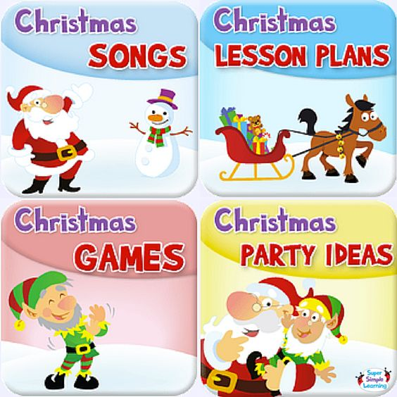 Christmas Decorations Lesson Plans : Learning lesson plans and game party on