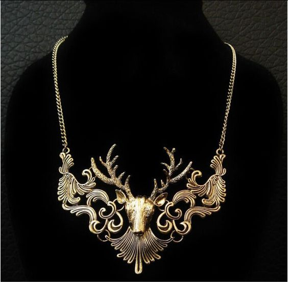 Charme colar de pingente de veados clássico declaração de colar gargantilha de jóias em Colares com pingente de Jóias no AliExpress.com | Alibaba Group