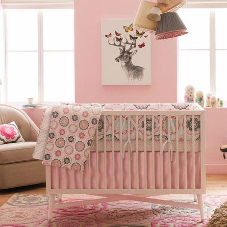 Zinnia Rose Crib Bumper