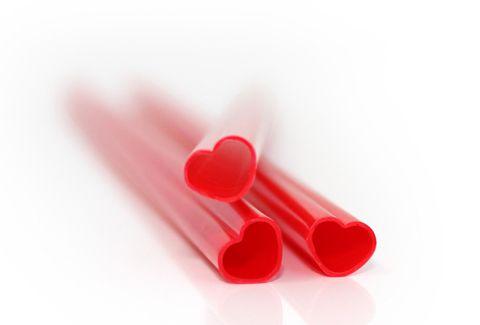 Canudo coração! :)