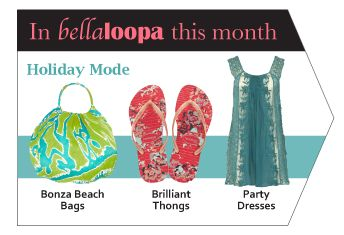 Don't miss the December/January  issue of Bellaloopa magazine for more on the festive season.