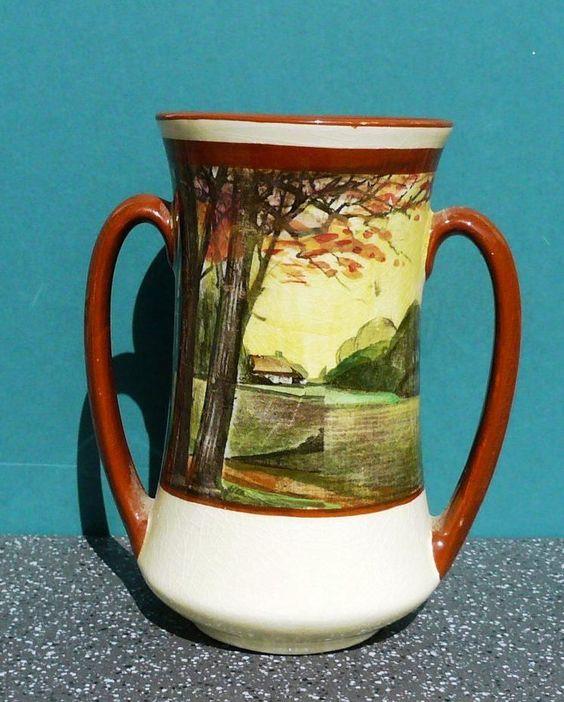 Vintage Royal Doulton  Woodlands  Series Twin Handled Vase D4585