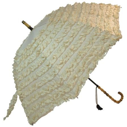 Blooming Brollies Boutique Fifi 9 Frill Stick Man.Beige umbrella