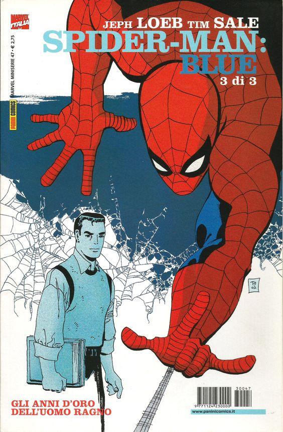 """Tim Sale (disegni) & Jeph Loeb (storia) """"Spiderman Blue, 3 di 3"""" - Marvel Italia, maggio 2003"""