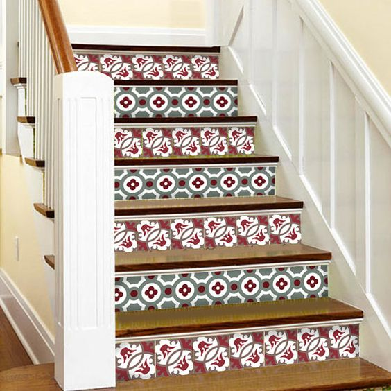 kitchen bathroom wall stair riser tile decals vinyl. Black Bedroom Furniture Sets. Home Design Ideas