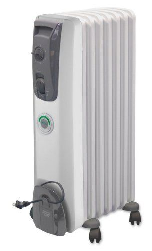 DeLonghi MG7307CM Safeheat 1500W ComforTemp Portable Oil Filled Radiator by DeLonghi. $49.99. Automatically turns off with safety thermal cut-off if heater becomes too warm. 7 permanently sealed fins with pure diathermic oil never need refilling. Patented vertical thermal chimneys maximize radiant heat flow while maintaining a low, safe to touch surface temperature. Energy efficient ComforTemp feature sets ideal temperature (68-70 degrees). Automatically turns ...