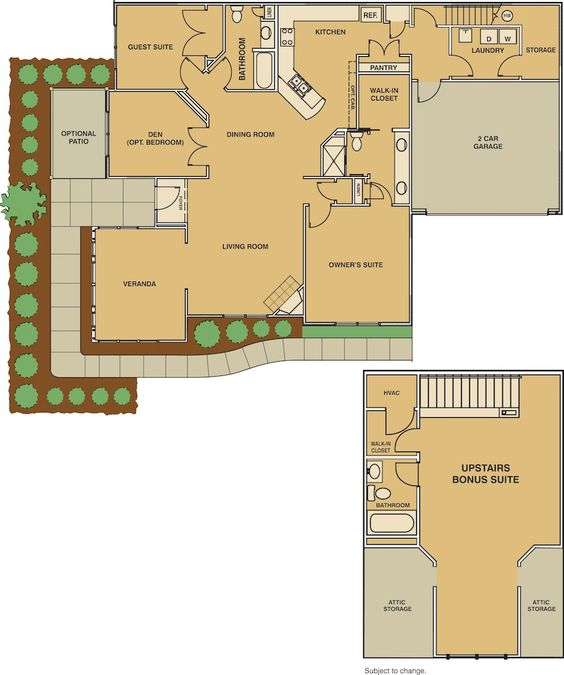 Pinterest the world s catalog of ideas for Attached garage plans with bonus room