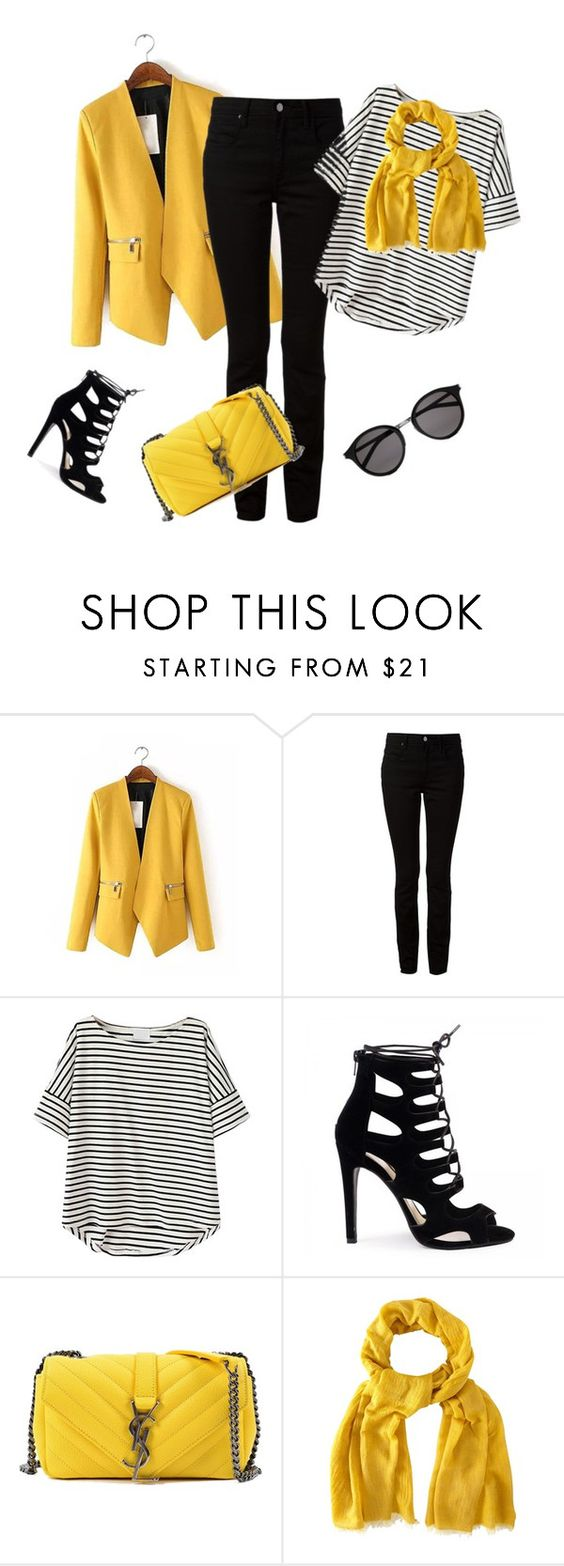 """""""outfit3458"""" by natalyag ❤ liked on Polyvore featuring T By Alexander Wang, Yves Saint Laurent, White Stuff, women's clothing, women, female, woman, misses and juniors"""