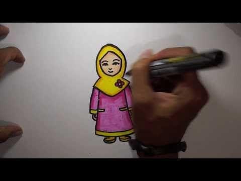 20 Gambar Kartun Berhijab Mewarnai Download Cepat Himpunan Contoh Gambar Mewarna Ana Muslim Yang Yang Penting Jangan Diwarnai Satu Warna Di 2020 Kartun Warna Gambar