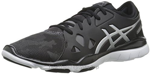 ASICS Women's GEL Fit Nova 2 Fitness Shoe, Black/Silver, 6.5 M US
