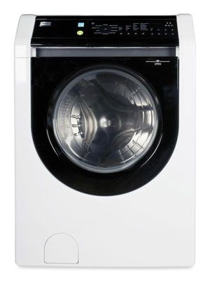 Budget Buy  For superb stain removal without totally cleaning out your wallet, look to the Haier HWF5300AW ($800) — the only front loader that totally zapped ink. Note: It has a Sanitary cycle that uses extra-hot water, but it isn't NSF-certified.