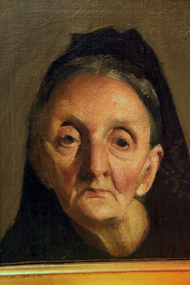 Glava starice (Head of an Old Woman) by Josip Račić, 1906.