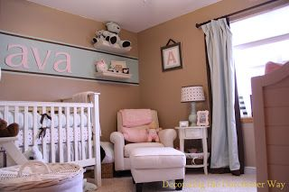 Decorating the Dorchester Way: Not So Pink Baby Girl's Nursery