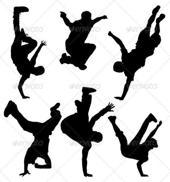 Break Dancers Silhouette | Teenagers, Search and Dance