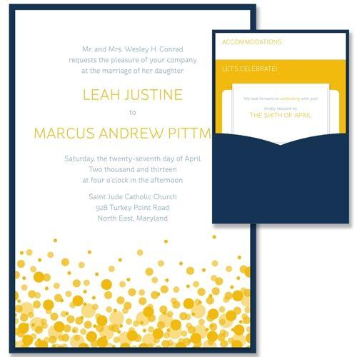 Confetti Clutch - Unique Wedding Invitation by The Green Kangaroo