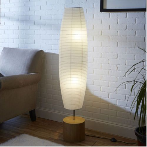 Mainstays Rice Paper Shade Floor Lamp Bamboo Finish With Images