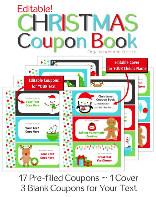 Printable Coupon Book The Perfect Stocking Stuffer For Kids - christmas coupons template