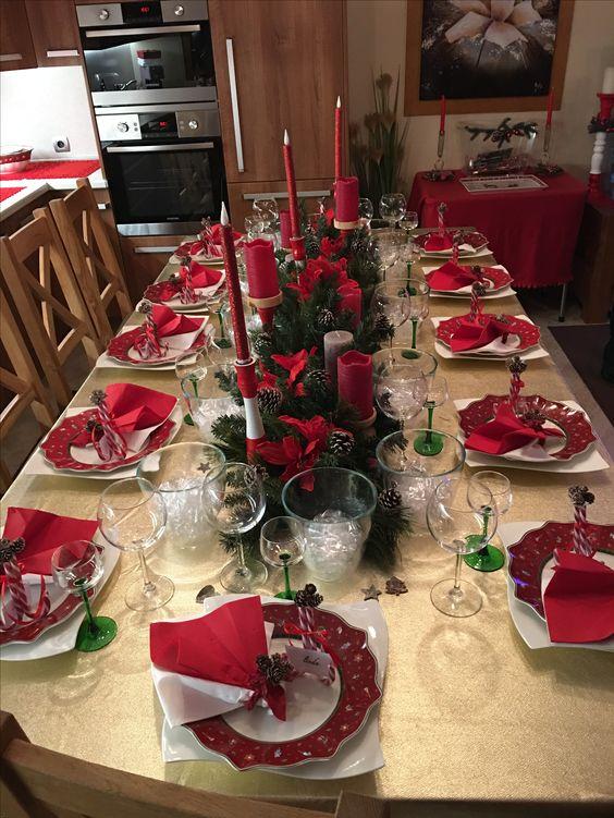 Ideia para decorar a mesa de Natal.