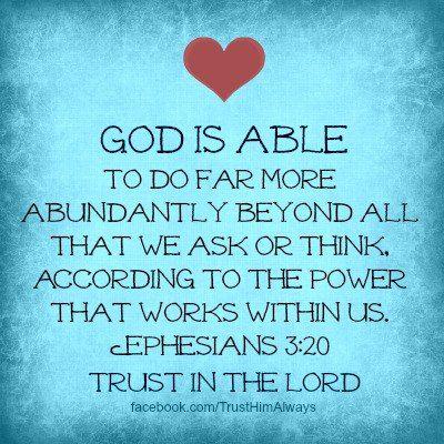I TRUST YOU GOD !: