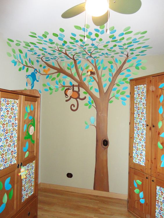 Decoraci n de paredes infantiles decoraci n cuarto bebe - Decoracion vinilo pared ...