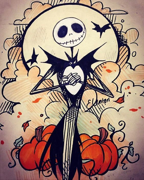 Halloween Draw Along Ideas Nightmare Before Christmas Drawings Halloween Drawings Cute Halloween Drawings
