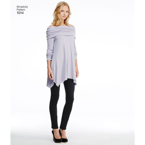 Simplicity Pattern 1014 Misses' Knit Tunics