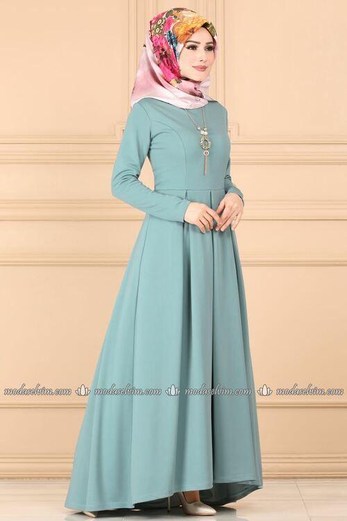 Modaselvim Elbise Kolyeli Pileli Elbise 1877af356 Mint Dresses Fashion Victorian Dress