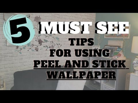 Watch This Before Using Peel And Stick Wallpaper 5 Tips And Hacks To Help Get Perfect Placement Youtube In 2021 Peel And Stick Wallpaper Wallpaper Peel