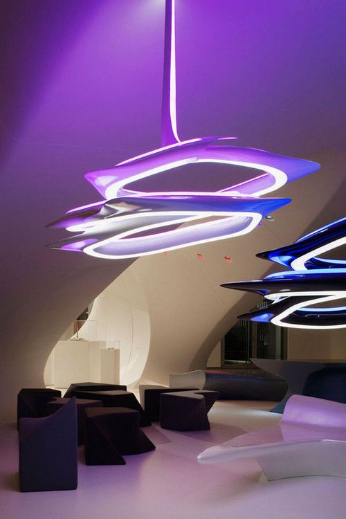 Zaha hadid chandelier lamp and futuristic design on pinterest for Zaha hadid lamp