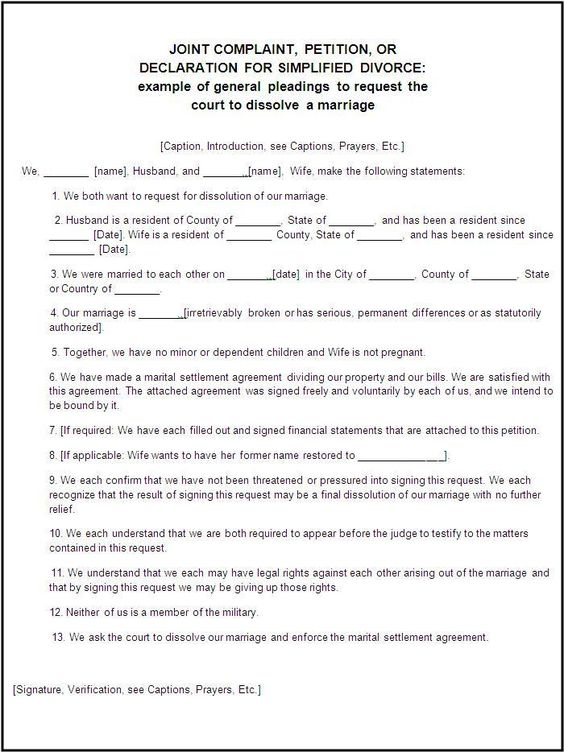 Certificate Of Divorce Template Printable - partnership agreements