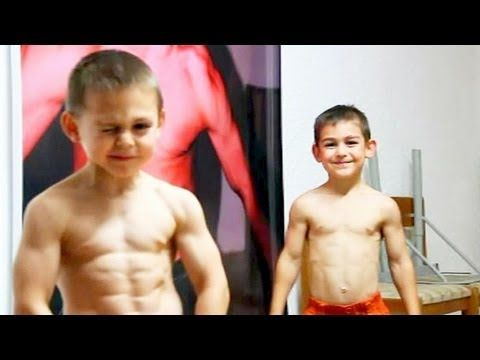 Giuliano Stroe And Brother Claudio Training Workout Biceps The Strongest Kids In World