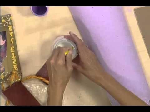 Artesanato Decupagem na telha - PGM Manhã Viva - parte 02 - YouTube