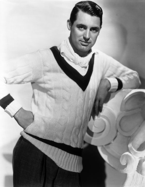 This sweater could only look good on this man - the man - Cary Grant.