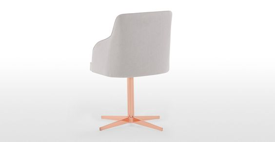 Keira Office Chair, Cloud Grey and Copper | made.com