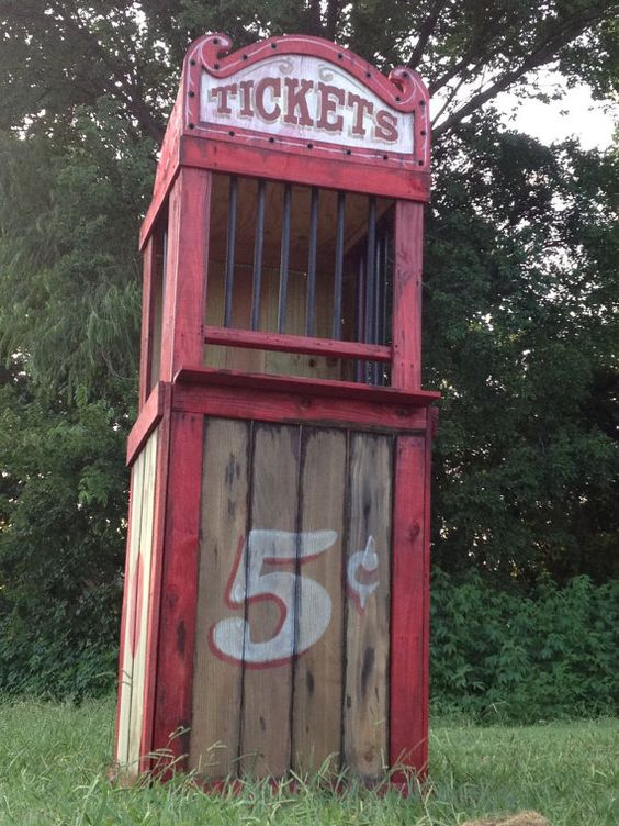 Haunted House Carnival Ticket Booth Halloween Decoration Prop Decor - zombie halloween decorations