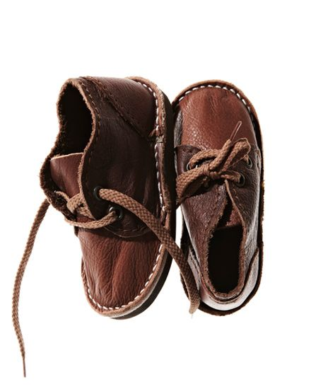 Mixed Brown Leather Mini - how cute are these little shoes ...
